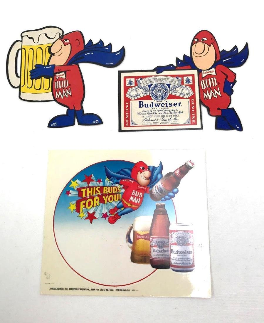 Budweiser Beer Advertising Decals Featuring Bud Man and - 2