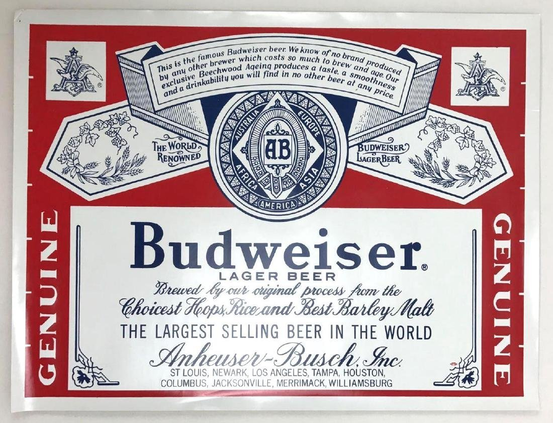 Budweiser Beer Advertising Decals Featuring Bud Man and - 3