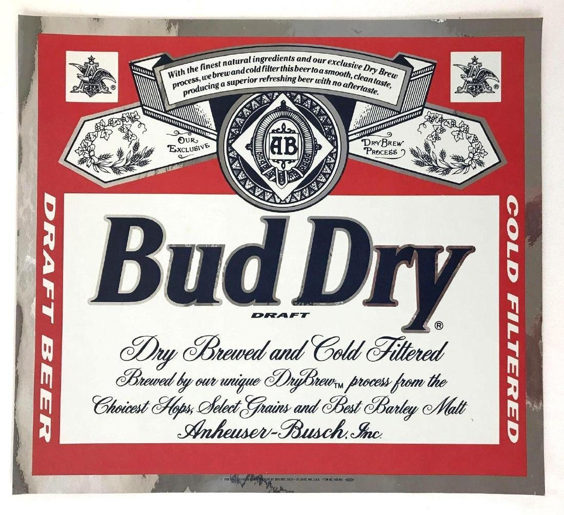Budweiser Beer Advertising Decals Featuring Bud Man and - 4