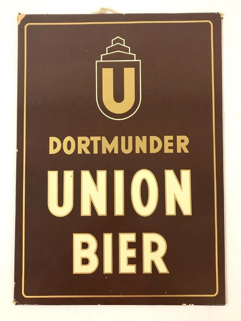 Vintage Dortmunder Beer Advertising Sign