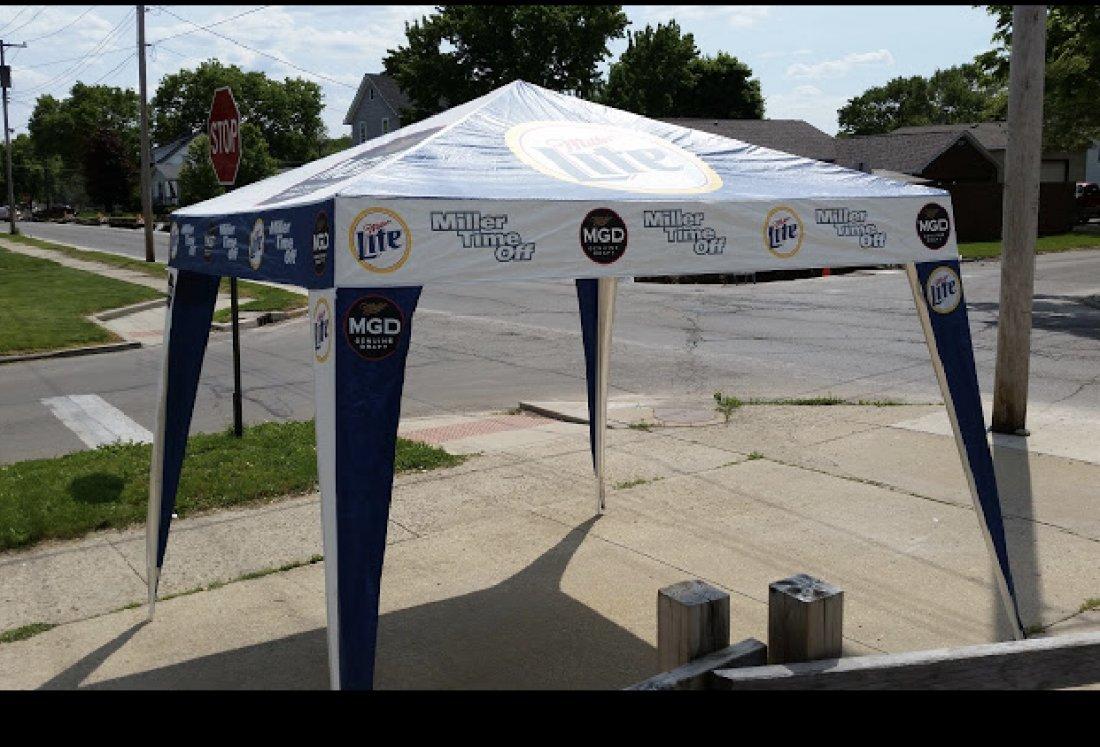 & Miller Lite Advertising Canopy
