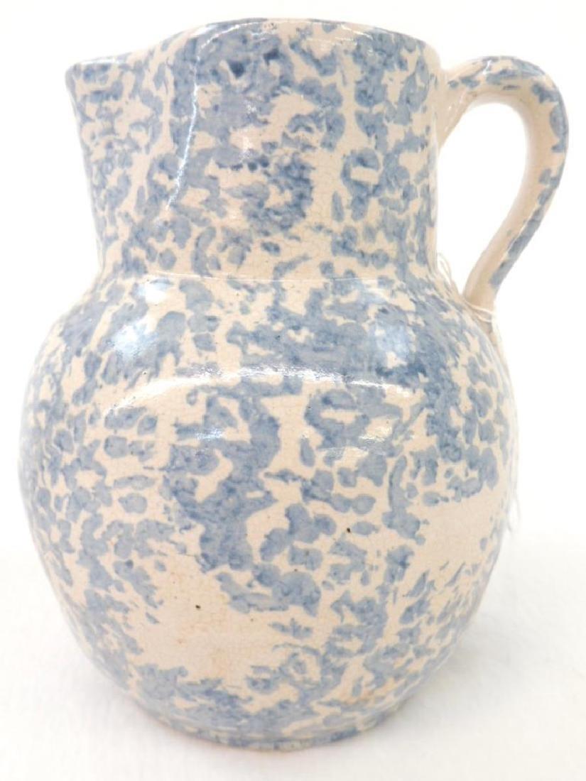 Blue Spongeware Milk Pitcher