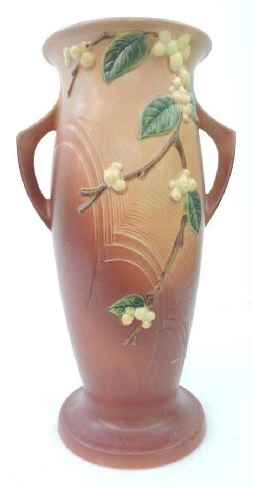 Large Roseville Snowberry 2 Handle Vase