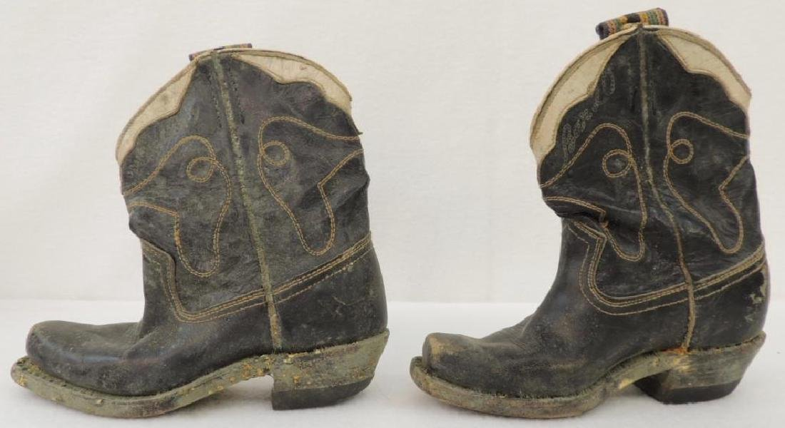 Set of Child Cowboy Boots and Headband - 2