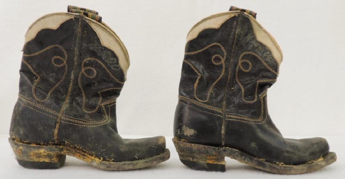 Set of Child Cowboy Boots and Headband - 3