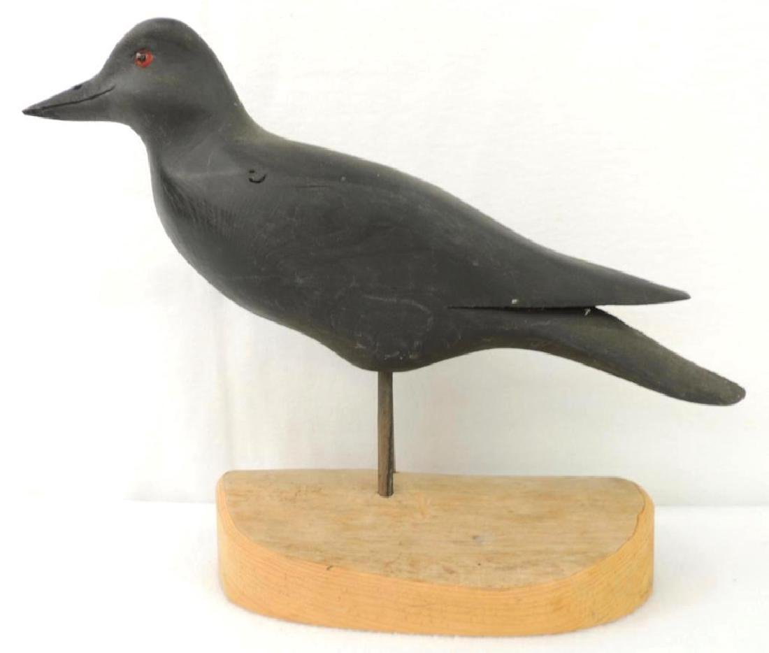 H V Shourds Carved Wood Crow