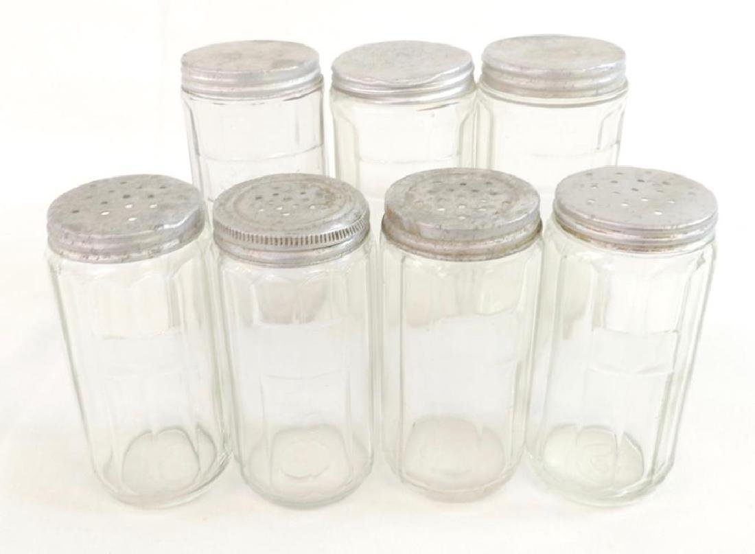 Group of 7 Antique Glass Hoosier Jars