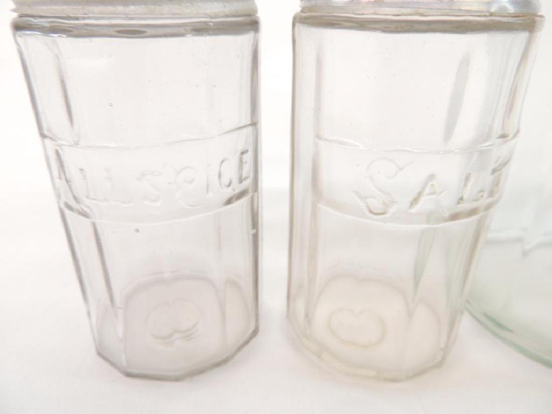 Group of 5 Antique Glass Hoosier Jars - 2