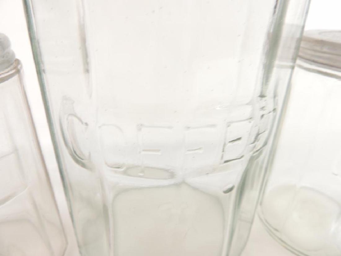 Group of 5 Antique Glass Hoosier Jars - 4