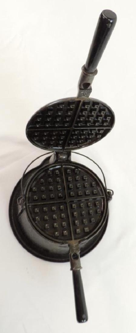 Puritan Cast Iron Waffle Maker - 3