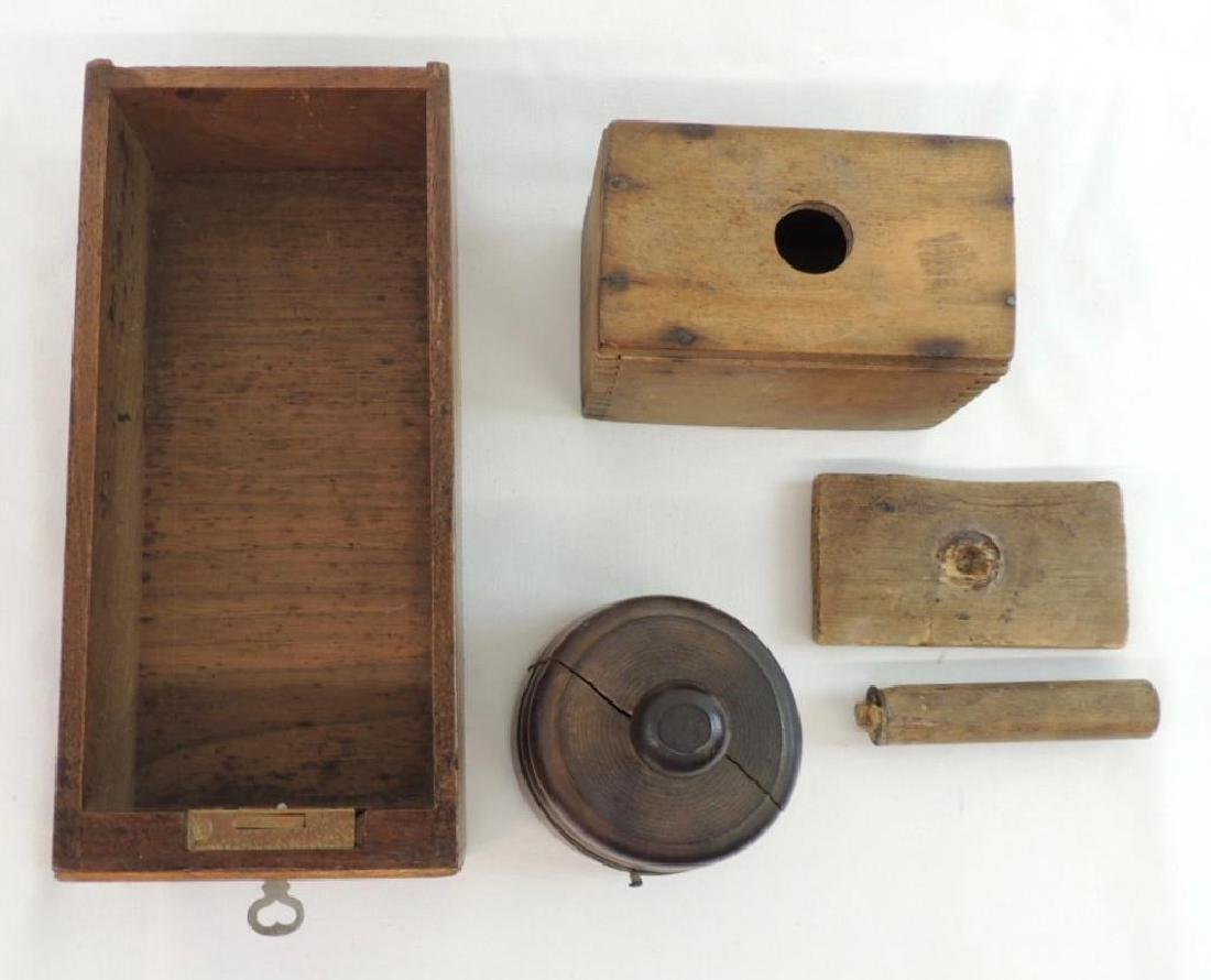 Group of Primitive Wood Kitchen Items - 2