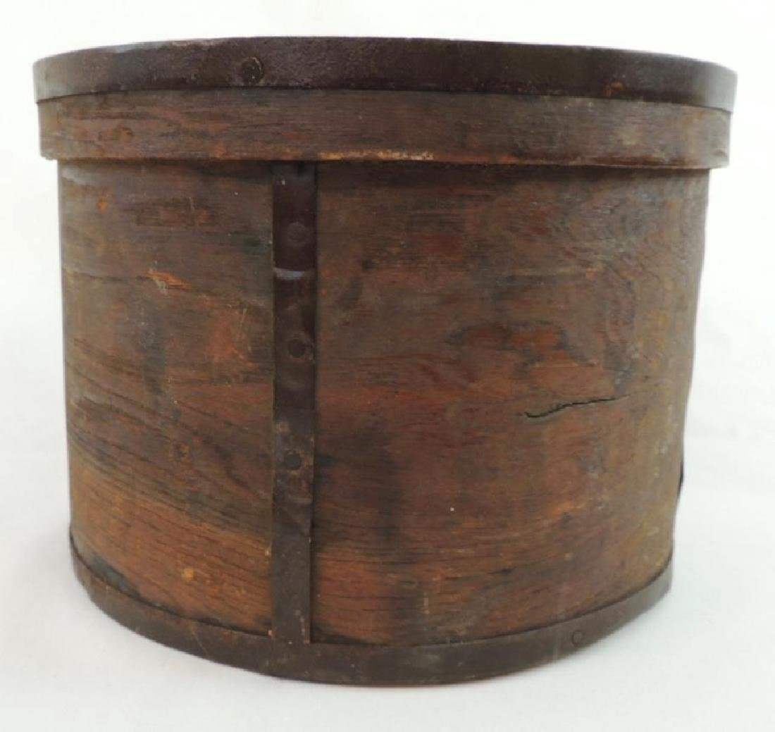 Primitive Round Drum Wood Box - 2