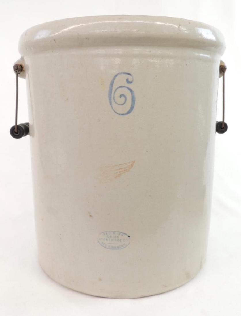6 Gallon Red Wing Crock with 2 Handles - 2