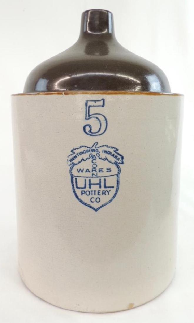 5 Gallon Uhl Pottery Crock Jug