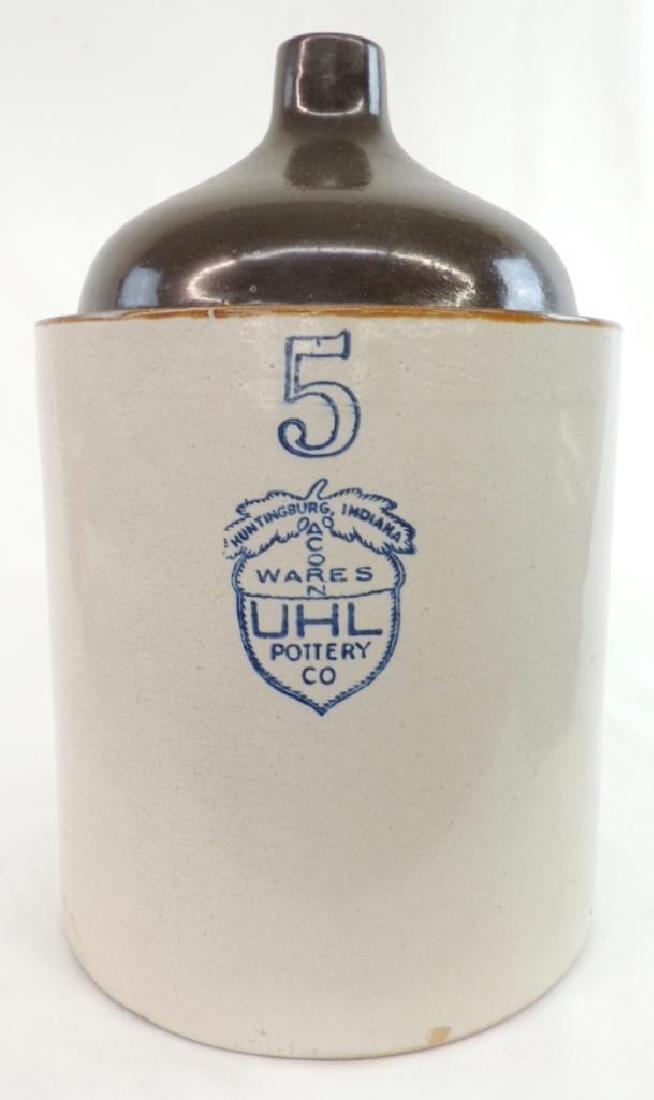 5 Gallon Uhl Pottery Crock Jug - 2
