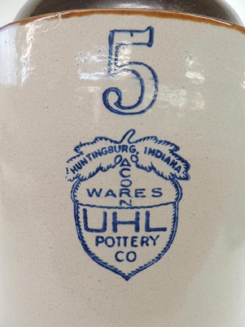 5 Gallon Uhl Pottery Crock Jug - 3