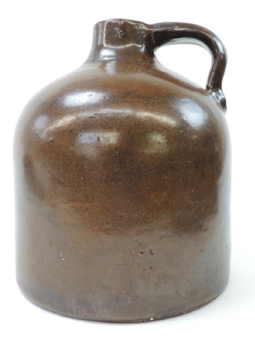 Small Red Wing Brown Albany Slip Crock Jug