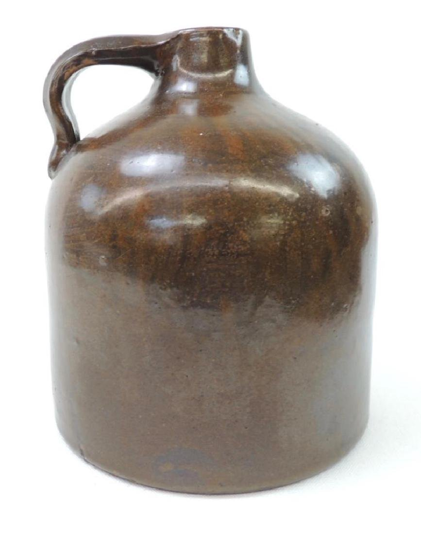 Small Red Wing Brown Albany Slip Crock Jug - 3
