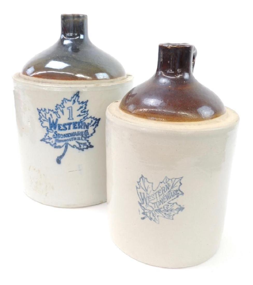 2 Western Stoneware Crock Jugs - 6