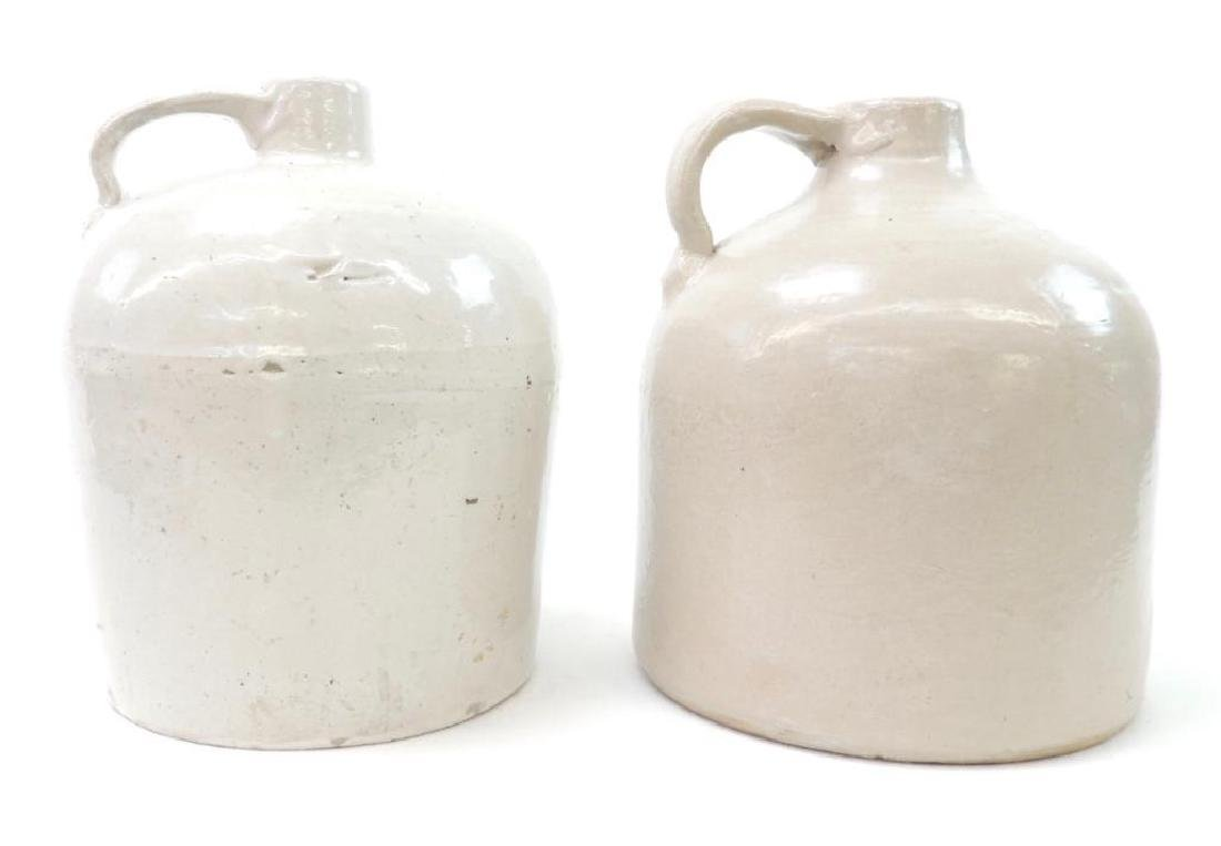 2 White Red Wing Pottery Crock Jugs - 3