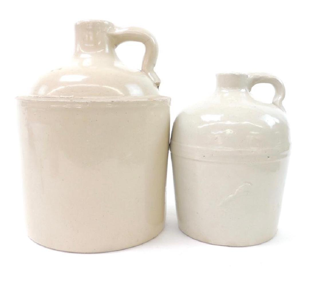 2 Macomb Stoneware Co Crock Jugs
