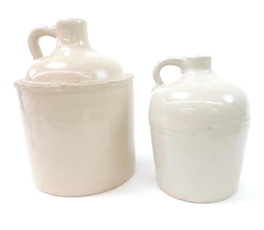 2 Macomb Stoneware Co Crock Jugs - 2