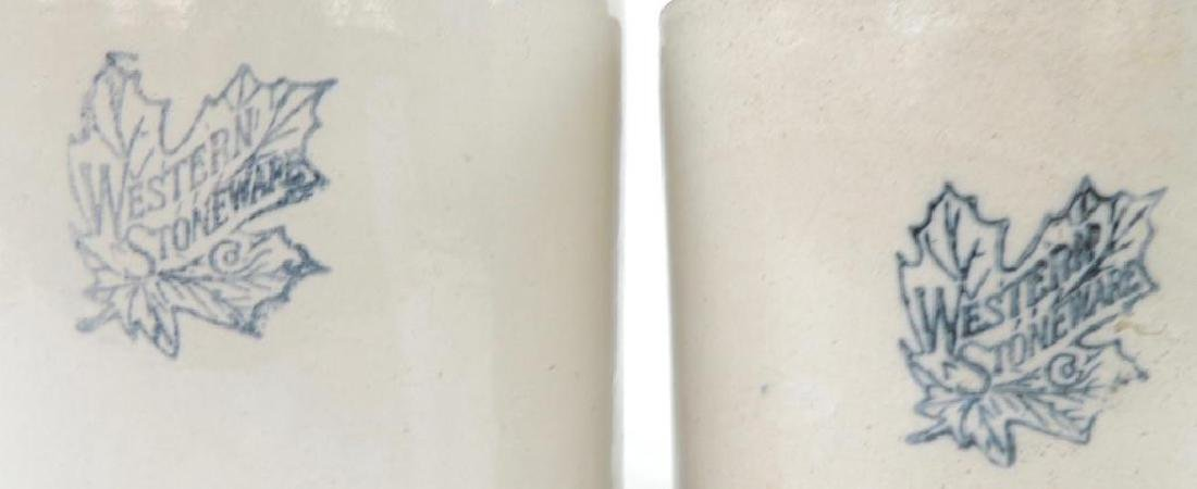 2 Western Stoneware Crock Jugs - 2