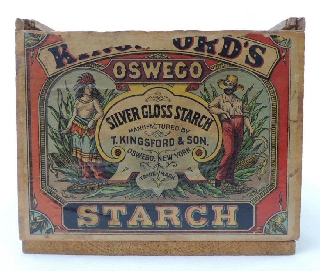 Oswego Silver Gloss Starch Box with Original Label