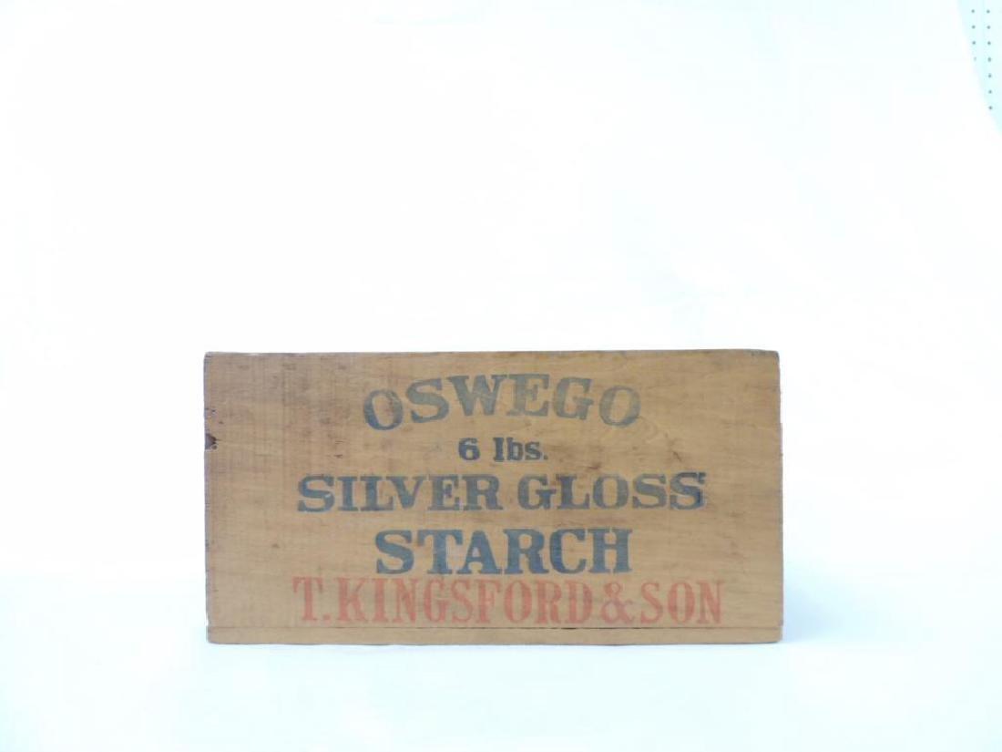 Oswego Silver Gloss Starch Box with Original Label - 2