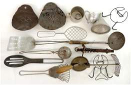 Large Group of Vintage and Antique Kitchen Tools