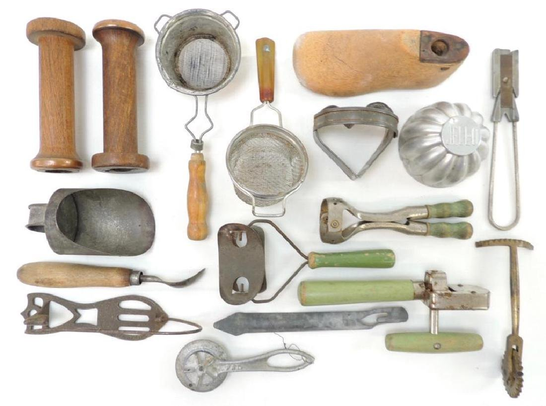 Large Group of Vintage Kitchen Tools and More