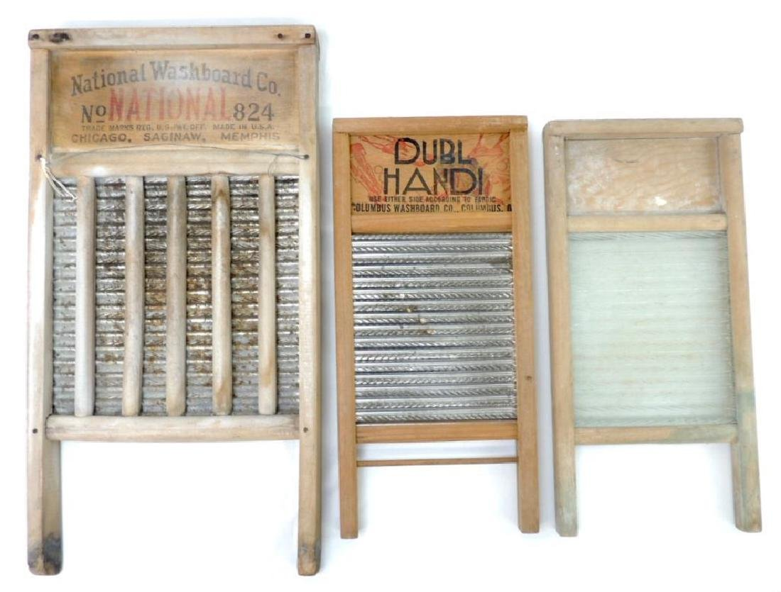 Group of 3 Washboards, One is Glass