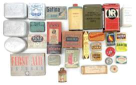 Large Group of Advertising Tins and Packages