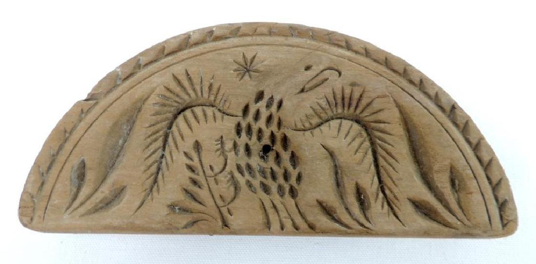 Circa 1800 Antique Half Round Eagle Butter Press