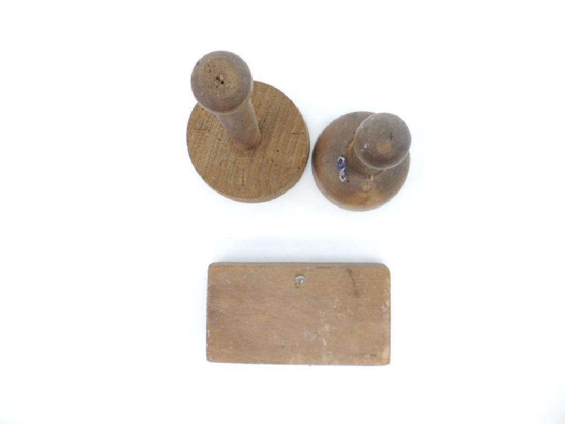 Group of 3 Antqiue Wood Butter Presses - 4