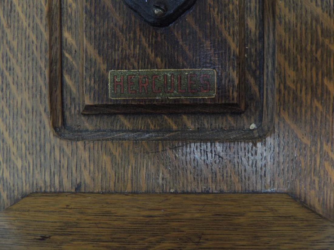 Antique Oak Hercules Wall Telephone - 2