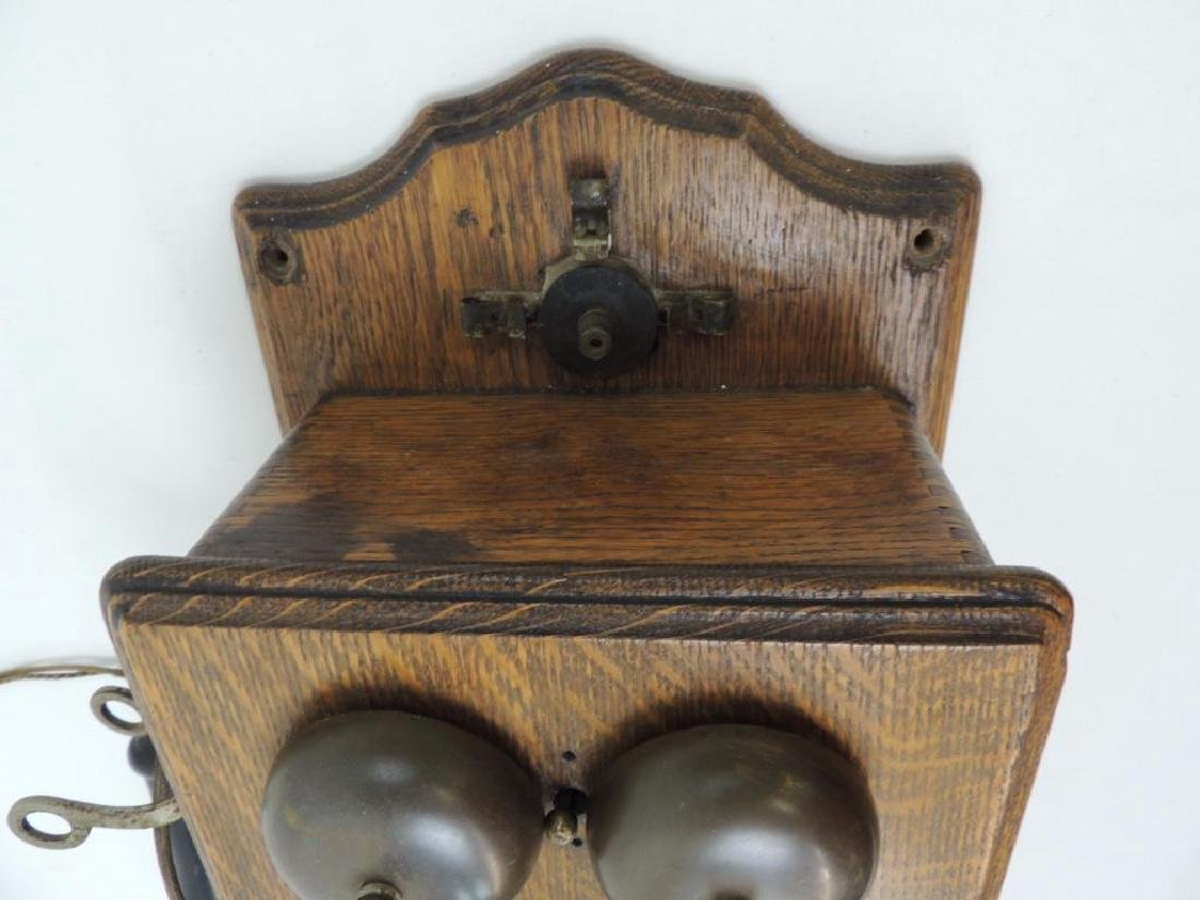 Antique Oak Hercules Wall Telephone - 5