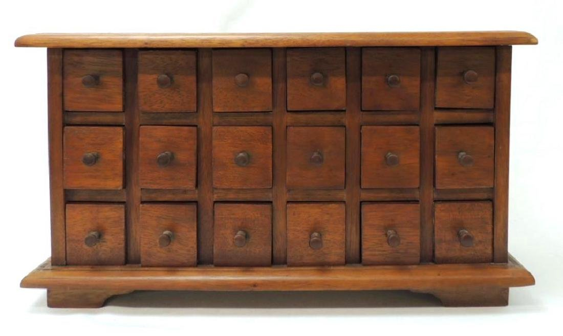 Antique Apothecary 18 Drawers Chest
