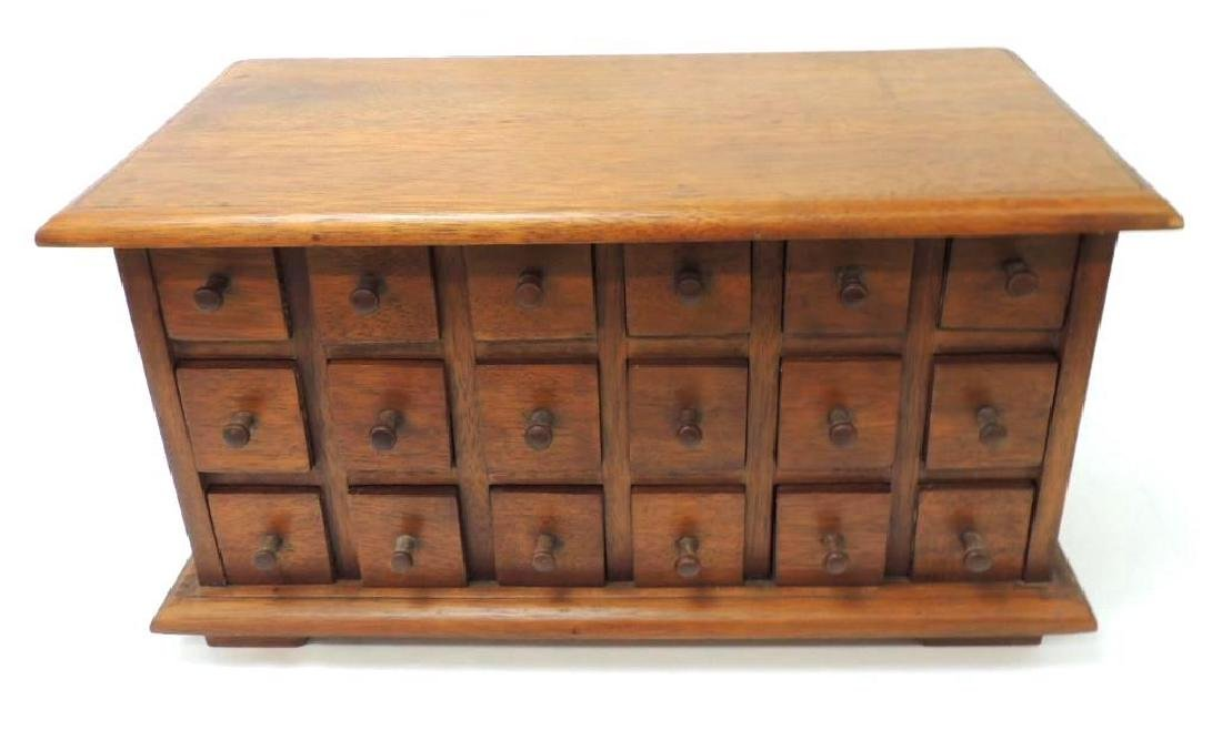 Antique Apothecary 18 Drawers Chest - 2
