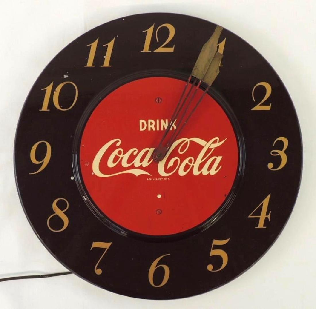 Large Vintage Coca Cola Clock