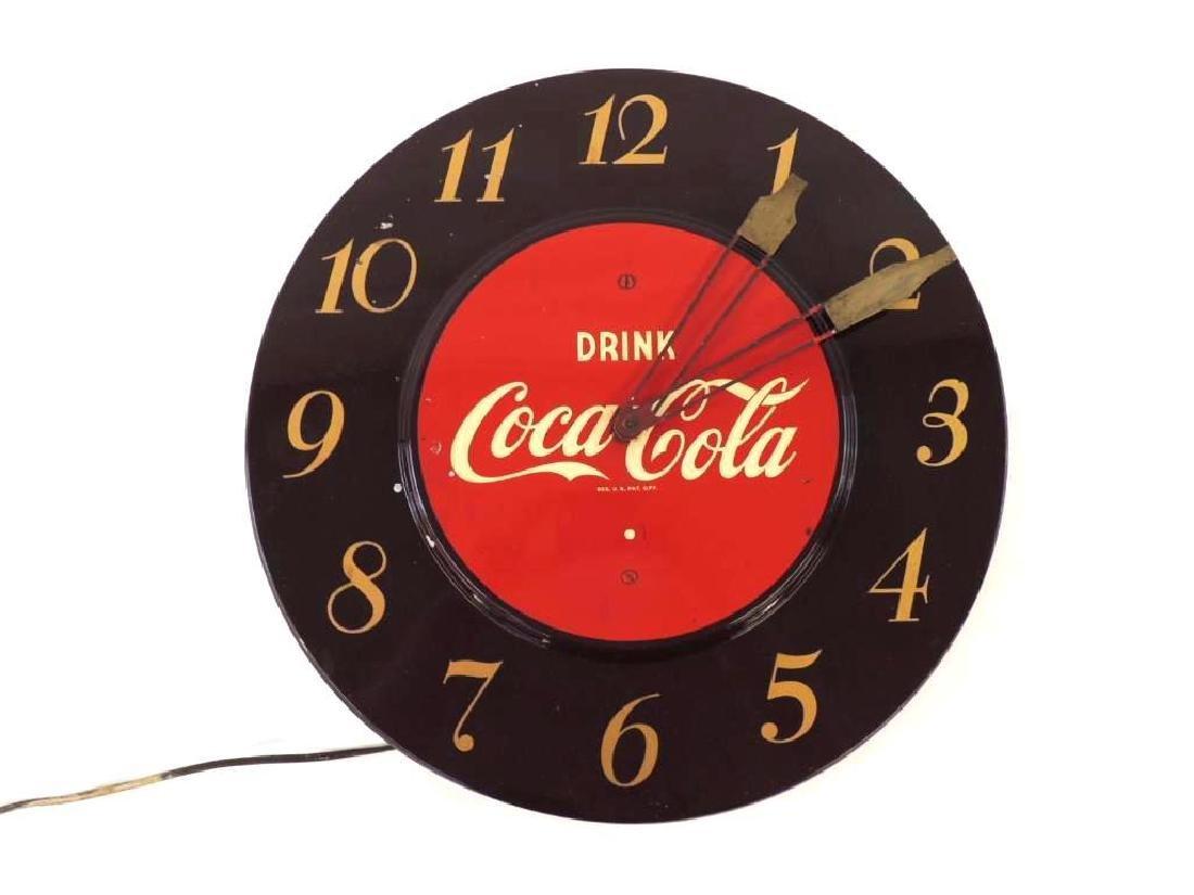 Large Vintage Coca Cola Clock - 6