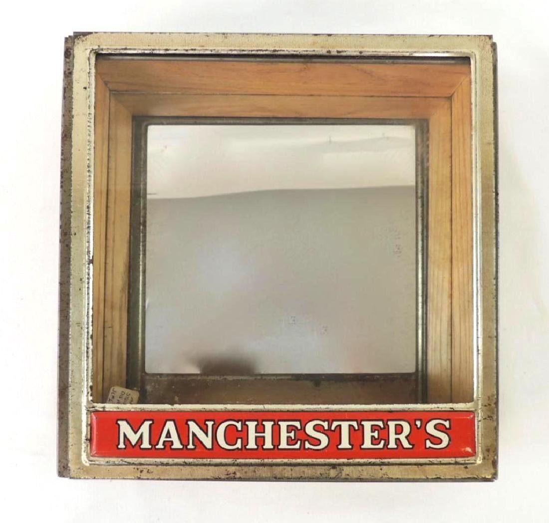 Manchesters Vintage Advertising Mirrored Store Display