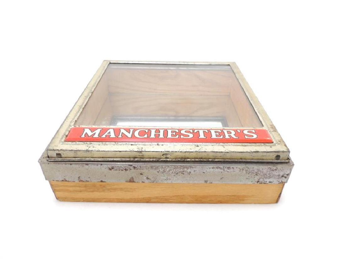Manchesters Vintage Advertising Mirrored Store Display - 2
