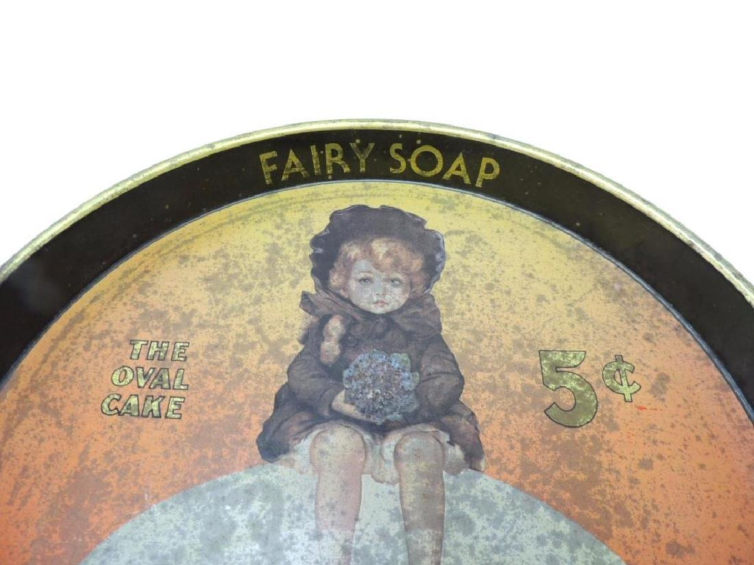 Antique Fairy Soap Vintage Advertising Serving Tray - 2