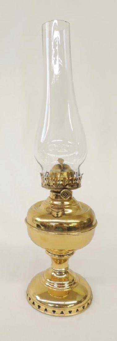 Antique Miller Brass Oil Lamp