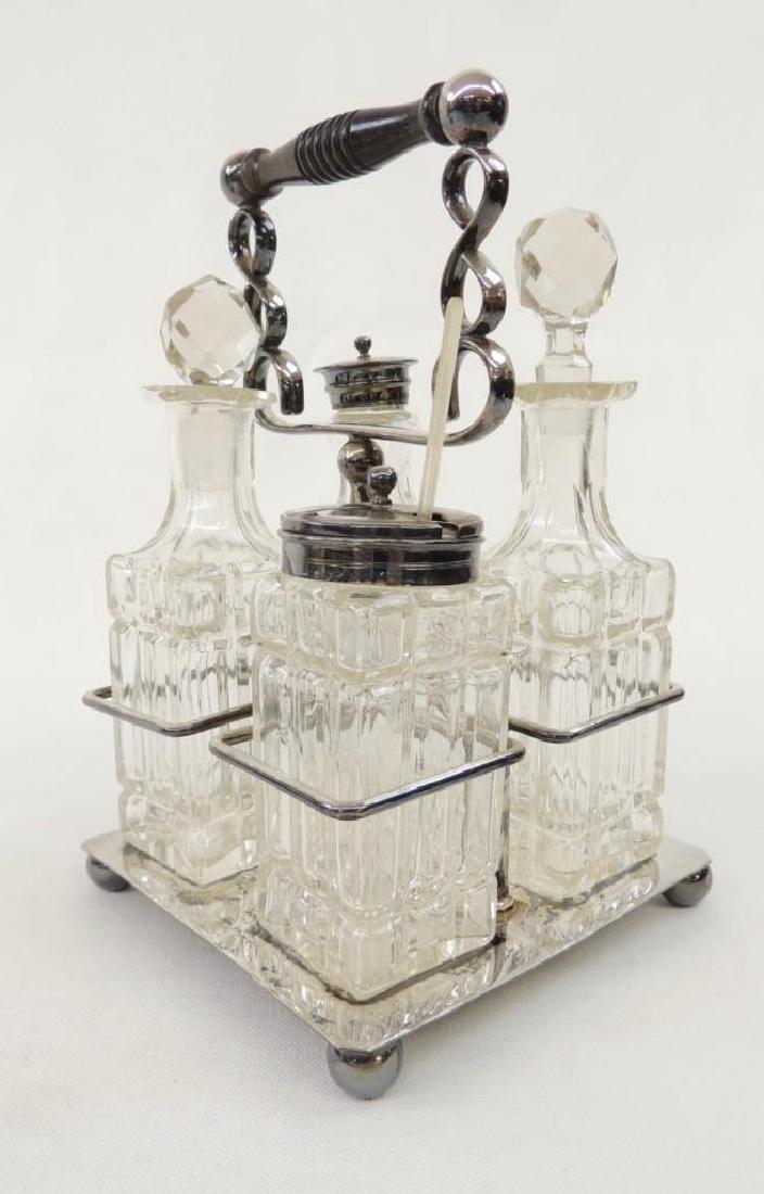 4 Bottle    Art Deco    Cruet Set