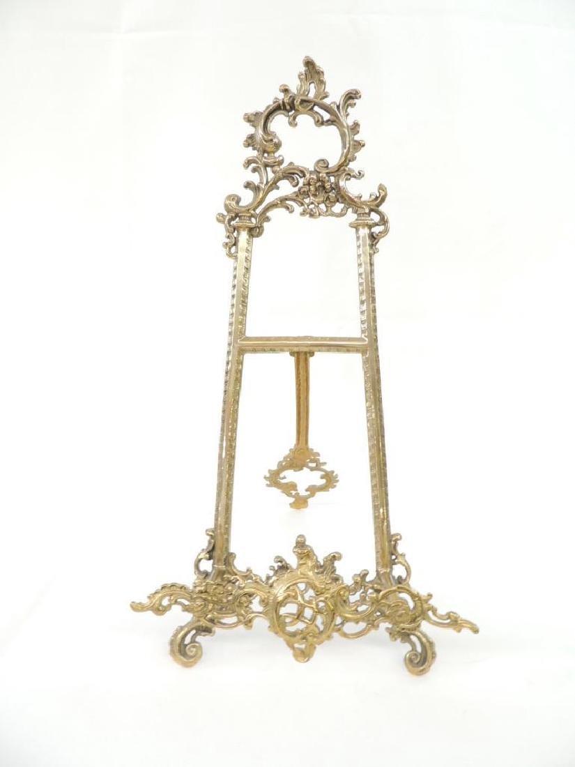 Large Ornate Brass Easel