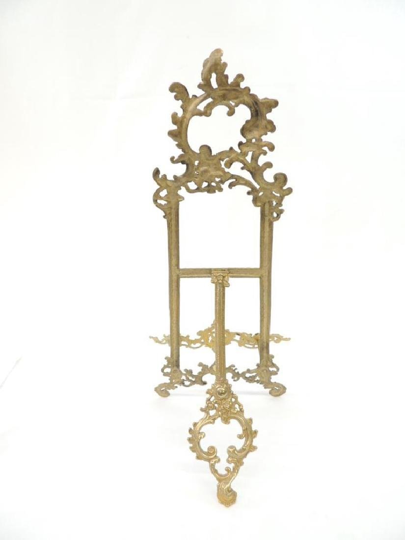 Large Ornate Brass Easel - 2
