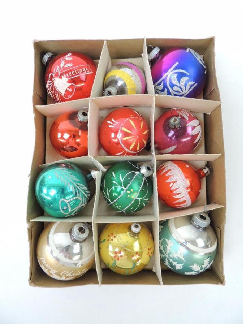 12 Vintage Mercury Glass Christmas    Ornaments in - 3