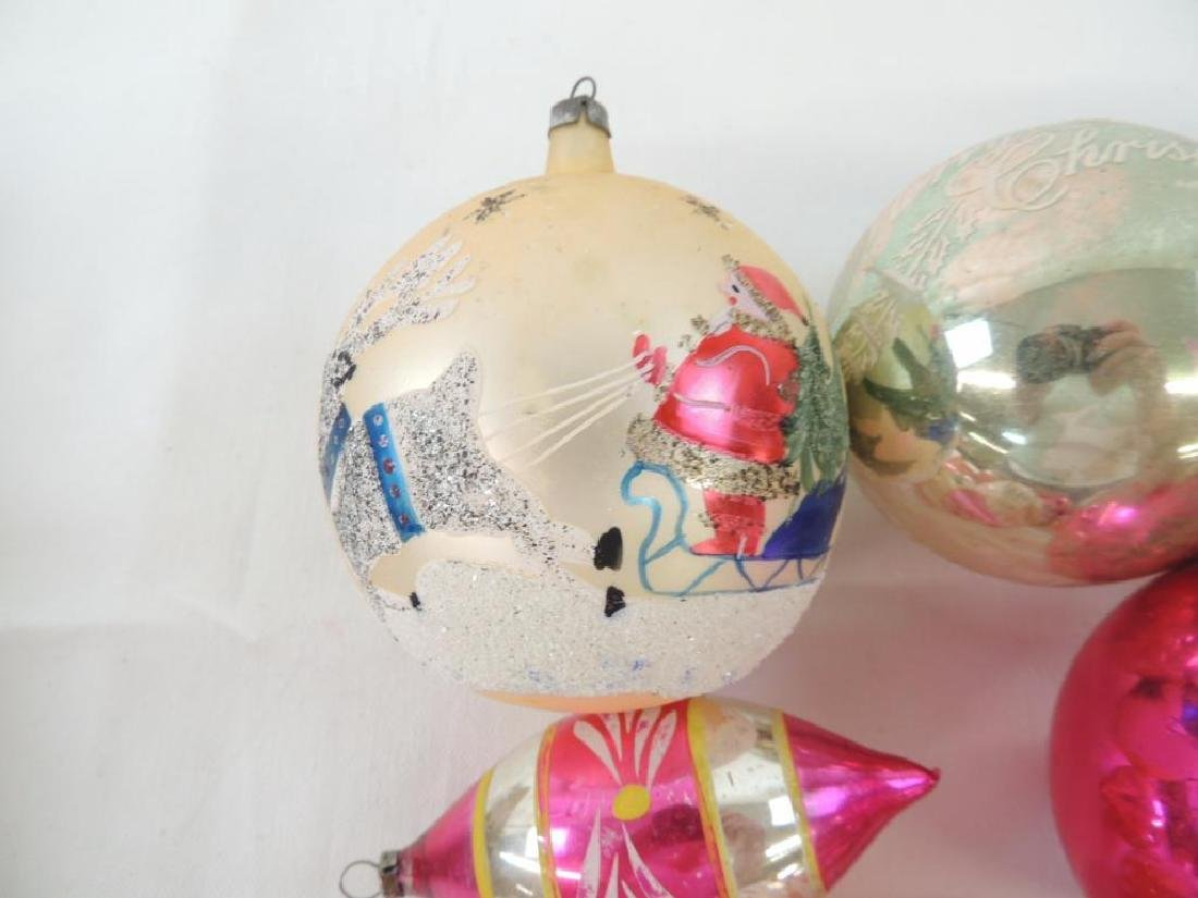 Group of 15 Vintage Mercury Glass Christmas Ornaments - 2